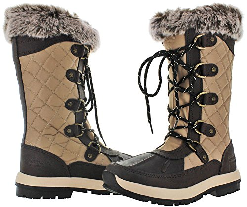 BEARPAW Quinevere Tall Waterproof Boot For Women Chocolate AjMBWyY