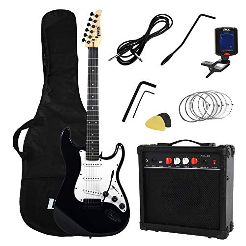 LyxPro Complete Beginner Starter kit Pack Full Size Electric Guitar with 20w Amp