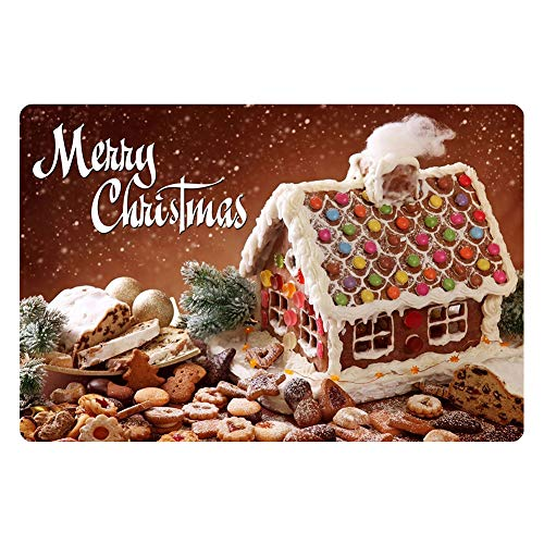 Mother Nest Merry Christmas Door Mat Sweet Chocolate Biscuits Colorful Candy Welcom Doormat Entrance Way Mats(16