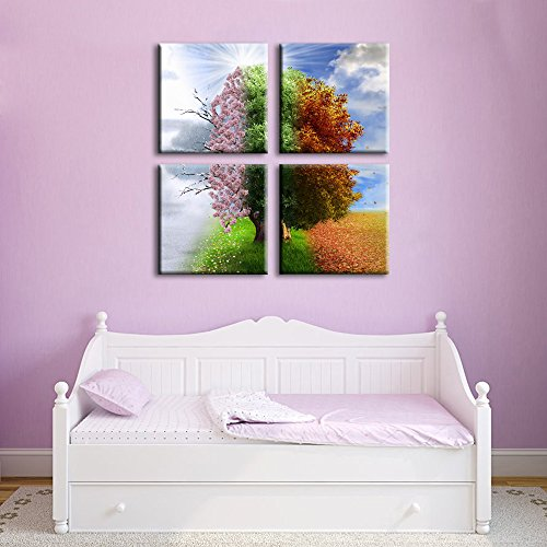 Noah Art-Inspirational   wall art 4 seasons   Four Seasons Tree Craft With Template – paper crafts ideas 516UD6OMH4L