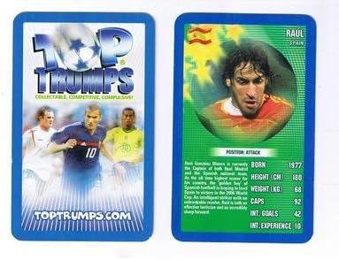 Los mejores triunfos mundial de fútbol Real Madrid RAUL juego de estrellas de España tarjeta: Amazon.es: Hogar