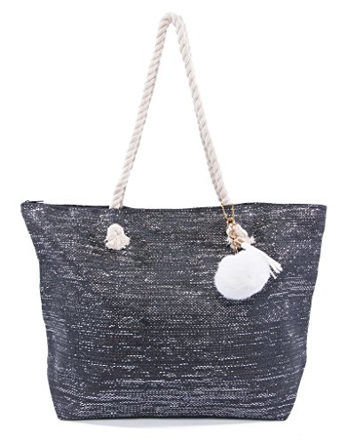 Extra Large Black Beach Bag: Amazon.com