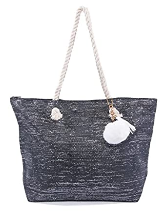 Amazon.com | Pier 17 Best Beach Bag With Pom Pom For Women To Take ...