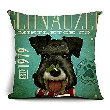 swrose perro algodón lino manta decorativa Funda de almohada Funda de cojín: Amazon.es: Hogar