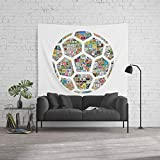 Society6 Wall Tapestry, Size Large: 88'' x 104'', Philately Soccer Ball by rubenberrocal