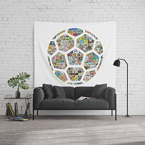 Society6 Wall Tapestry, Size Large: 88'' x 104'', Philately Soccer Ball by rubenberrocal by Society6