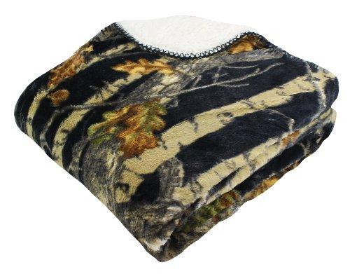 "REGAL 50"" x 70"" Sherpa Luxury Throw Blanket - The Woods' Bla"