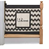 The Stair Barrier - Wall-to-Banister Signature Baby/Pet Gate - Chevron with Patch