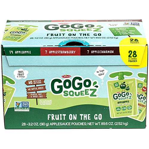 - GoGo Squeez Applesauce Variety Pack (3.2oz, 28ct.)