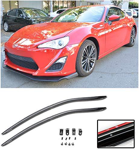 Extreme Online Store Compatible for 2013-Present Scion FR-S   2013-Present Subaru BRZ JDM Clip-ON Styke Smoke Tinted Side Vents Window Deflectors Rain Guard FRS BR-Z EOS Visors DWV-SBRZ-OE