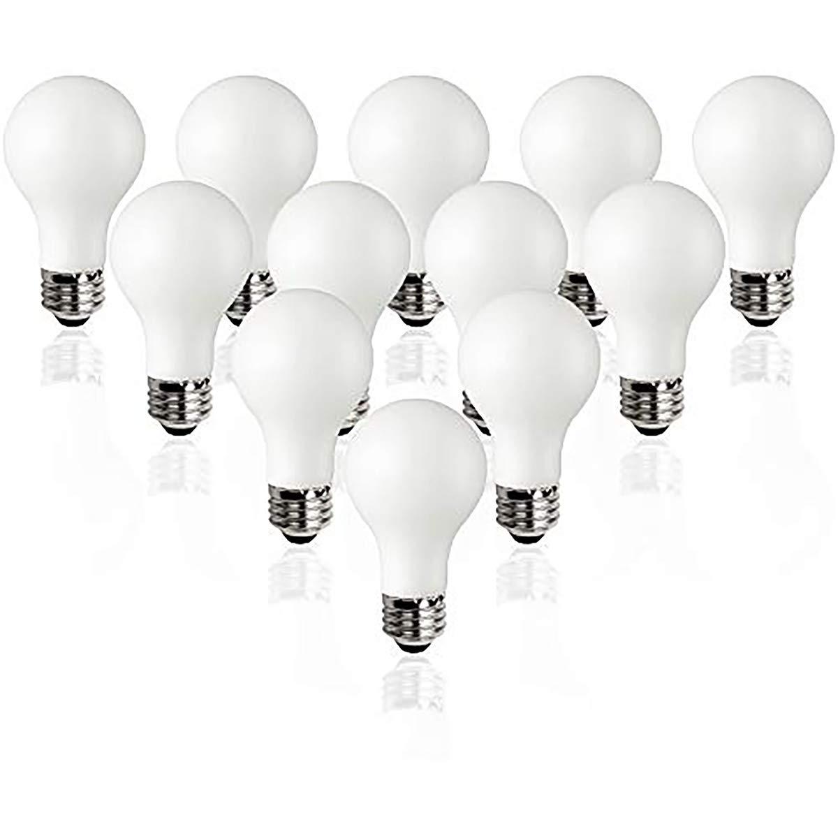 TCP Classic LED 60 Watt A19, 12 Pack, Energy Star, Daylight (5000K) Dimmable Light Bulbs