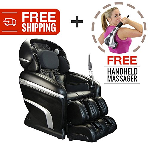 Zero Gravity Deep Tissue Shiatsu Reclining Massage Chair. Osaki 7200CR with Computer Body Scan and Heat Therapy for Customized Pain Relief and Relaxation (Black)