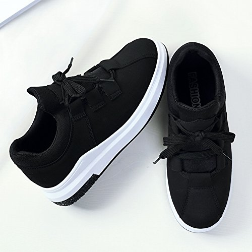 negro Grueso Arco Casuales para de EUR34 Aumentar Los Estudiantes Inferior con Skate Pastel Flojo 5 Zapatos Antideslizantes Cálidos Cordón faqf8drw