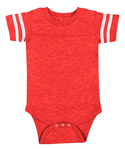 Custom Football Sport Jersey Baby Bodysuit Personalized With Name and Number (6-12M (12M), Vintage Red)