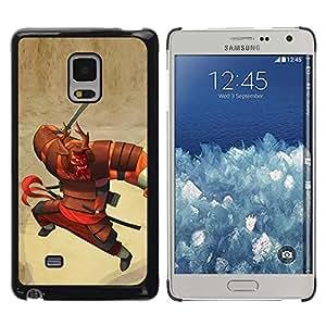 Be Good Phone Accessory // Dura Cáscara cubierta Protectora Caso Carcasa Funda de Protección para Samsung Galaxy Mega 5.8 9150 9152 // samurai character cartoon Japanese warrior