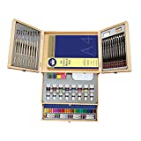 Deluxe Art Set- Painting & Drawing Set 83-Piece, Professional Art Kit for Kids, Teens and Adults/Gift by Lucky Crown Wooden Box Set