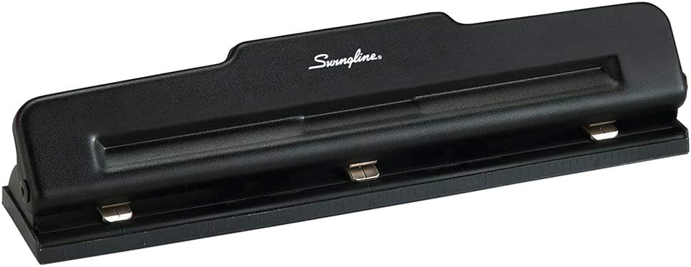 Swingline 2-3 Hole Punch, Semi-Adjustable, Light Duty Hole Puncher, 10 Sheet Punch Capacity, Black (74015) : Hole Punch : Office Products