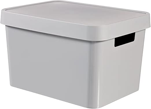 Curver - Caja Organizadora Infinity con Tapa y con Asas Lisa 17L ...