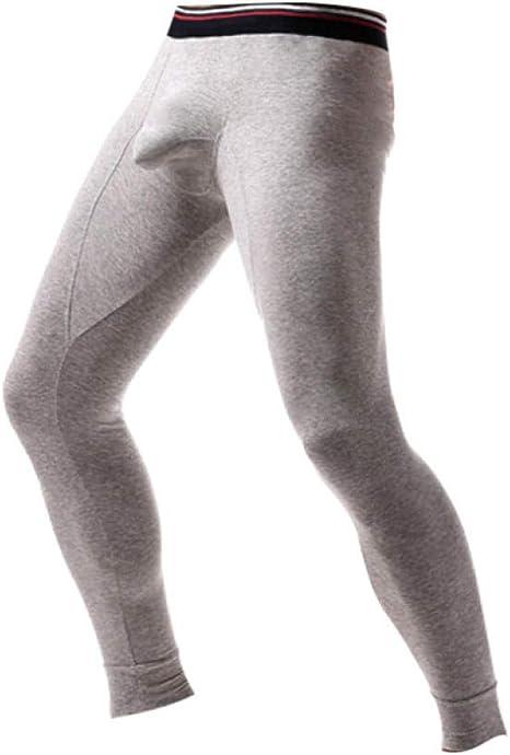 ZEEKYLY Hombres Leggings Calientes Pantalones Ropa Interior Invierno Hombres Algodón Calzoncillos térmicos Pantalones Pantalones: Amazon.es: Deportes y aire libre