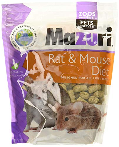 Mazuri Rat & Mouse Diet Rodent Food, 2 Pound Bag