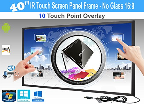 LCD / LED 10 Touch IR Overlay Touch Screen Frame Panel Interactive 40