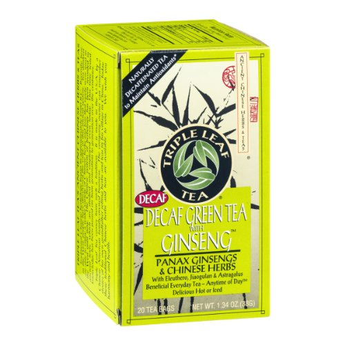 (Triple Leaf Tea Decaf Green Tea with Ginseng - 20 CT)