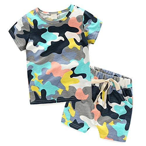 Frogwill Toddler Boys The Little Monster Truck Tee and Shorts Set 18M-7Y (3T, D1)