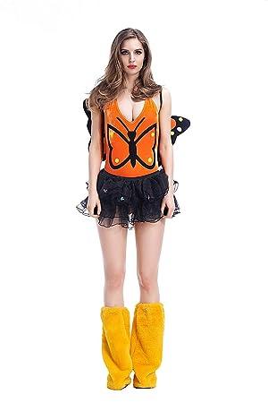 FHSIANN Mujeres Adultas Halloween Sexy Mariposa Disfraz de ...
