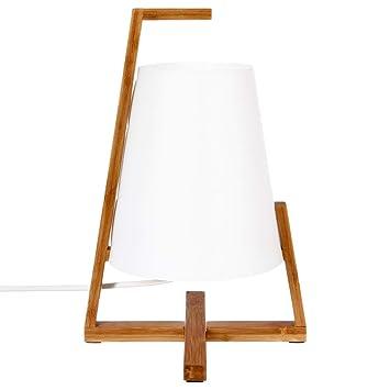 Lampe A Poser Originale Et Design Pied En Bambou Et Abat Jour