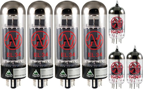 Marshall 100W Tube Set, JJ Tubes (x4 EL34, x3 12AX7), Apex Matched by JJ Electronic