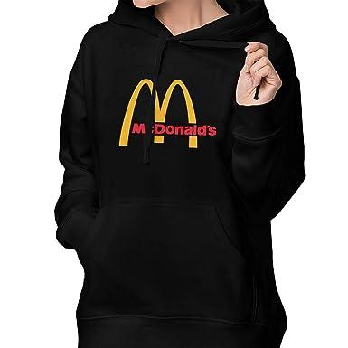 7c96ae01603 Women s Casual McDonalds Sweatshirt Tee T Shirt Long Sleeve Cotton T-Shirt  Hooded Shirts Women