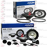 Brand New Alpine 6.5 2-way Car audio component system + SXE-6925S 6x9 2-way coaxial speakers Pair
