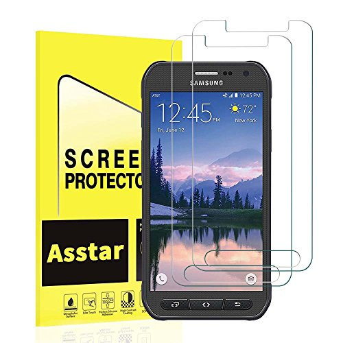 Galaxy S7 Active screen protector,[2-PACK] Asstar Premium Tempered Glass Screen Protector for Samsung Galaxy S7 Active - 0.26mm thickness / 2.5D Rounded Edge and Maximum Touchscreen Accuracy