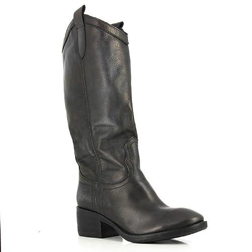 a49e82d08219c Felmini Ladies Tall Leather Boot Lavado Black 8538: Amazon.co.uk ...
