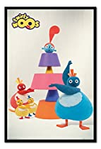 Twirly Woos Cake Poster Magnetic Notice Board Black Framed - 96.5 x 66 cms (Approx 38 x 26 inches)