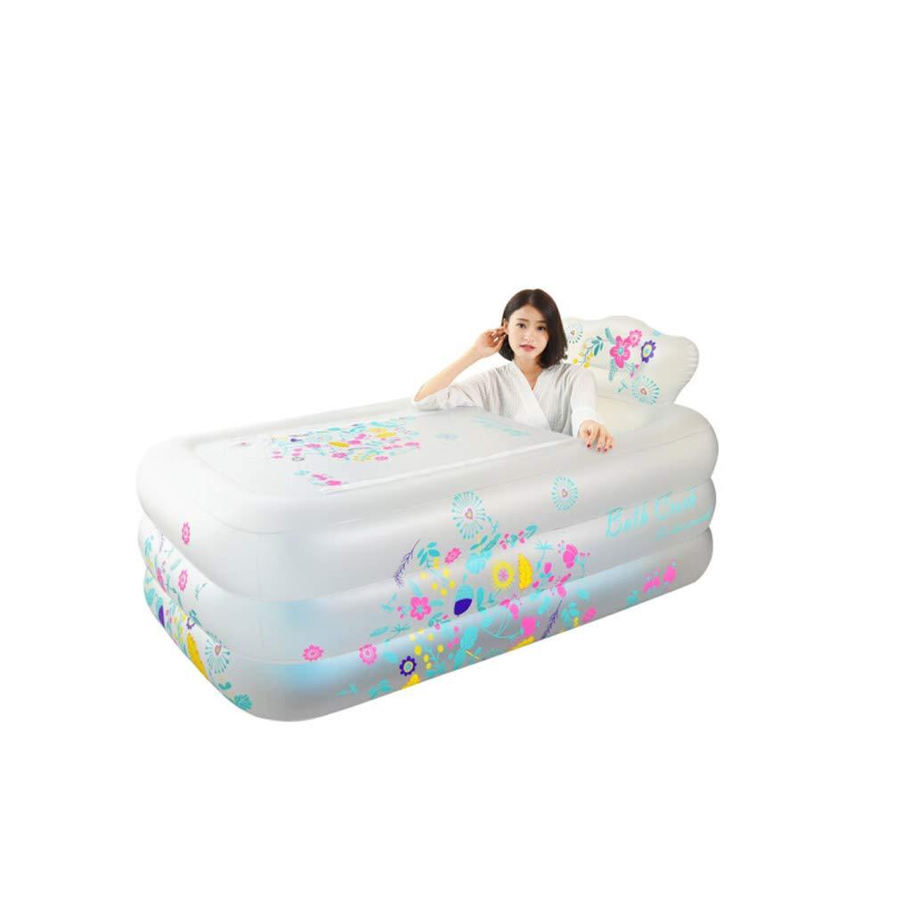 ffaccef9d con Bomba de Aire eléctrica Blanco Mingteng Bañera para niños Bañera  Plegable Bañera Inflable Bañera Inflable para Adultos Bañera Engrosada