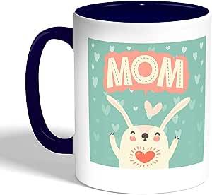 Mom Printed Coffee Mug, Blue Color