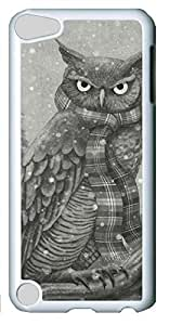 Fashion Customized Case for iPod Touch 5 Generation White Cool Plastic Case Back Cover for iPod Touch 5th with Winter Owl