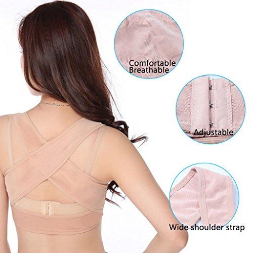Ajustable Posture Corrector,Chest Brace Up Corset Bra X Strap Vest for Women Prevent Sagging And Humpback (M)