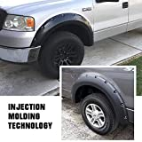 Magnus Smooth Finish Pocket Rivet Style Heavy Duty ABS Blister Plastic Fender Flares Compatible with 2004-2008 Ford F-150