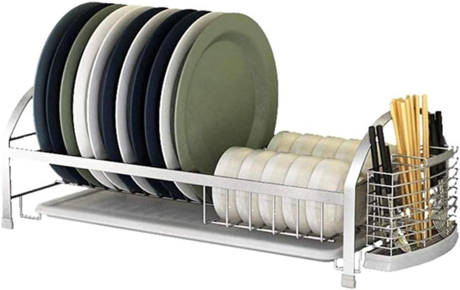 IhDFR 大規模なストレージカトラリーホルダー、キッチンシンクのための取り外し可能な食器棚トレーカップ/グラスホルダー付きアルミ皿の水切り
