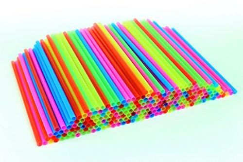 "Price comparison product image Sonrise 500 Regular Neon Plastic Straws 7 3 / 4"" x 1 / 4"" (500)"
