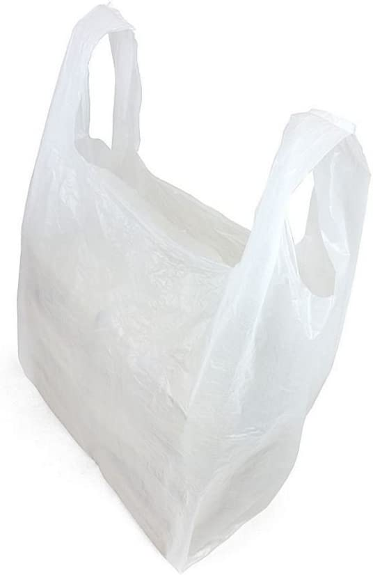 Black 15 Micron Thickness 12 x 19 x 23 inches, White, Set of 1000 PCS White All Sizes Available in Blue High Quality Plastic Vest Carrier Bags for Supermarkets Stalls /& Shops