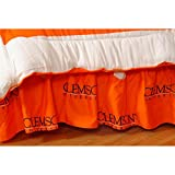 Clemson University Tigers Dust Ruffle Bed Skirt (Queen)
