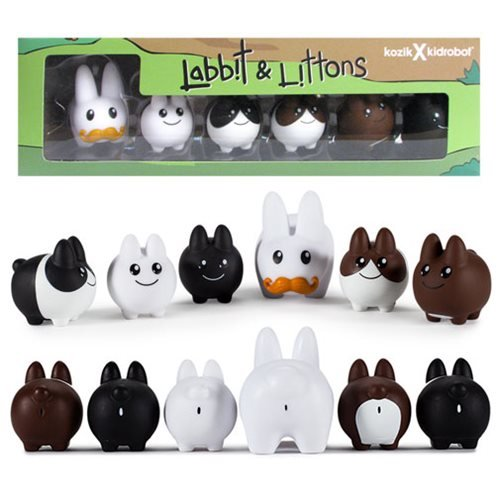 Frank Kozik Labbit with Littons Vinyl Figure by Kidrobot for sale  Delivered anywhere in USA