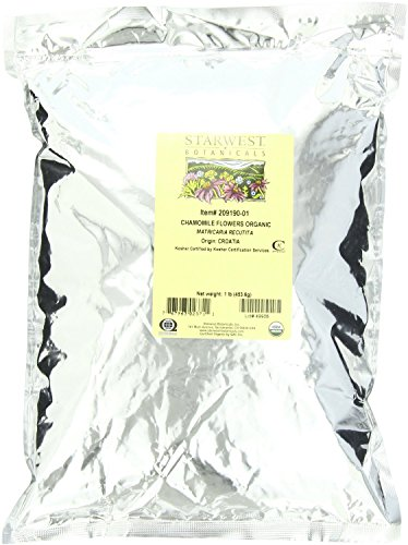 Starwest Botanicals Organic Chamomile Flowers (Croatia), 1-pound Bag ()