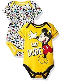 Disney Boys' Mickey Mouse 2 Pack Bodysuit