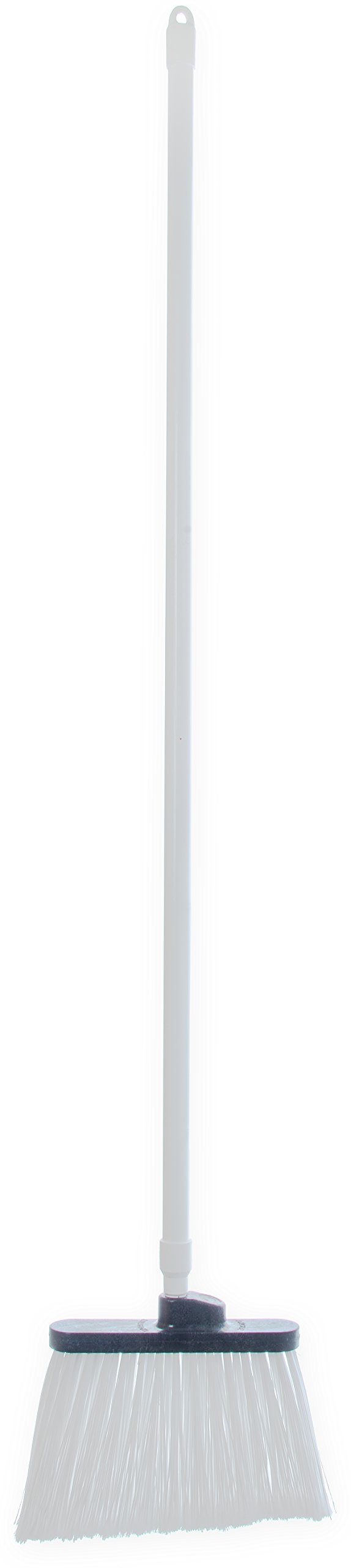 Carlisle 4108202 Sparta Duo-Sweep Flagged Angle Broom with Fiberglass Handle, 54'' Length, White (Pack of 12) by Carlisle