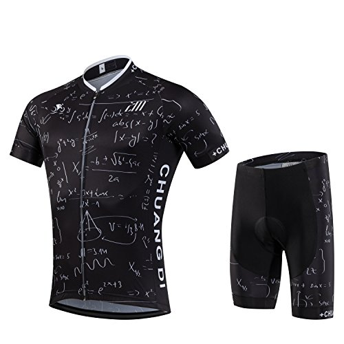 Digital Code Men Cycling Jersey Short Sleeve Summer Cycling Clothing Suit
