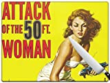 Movie Poster 83 - Attack Of The 50ft Woman Standard Cutting Board